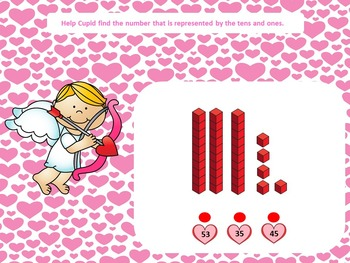 Tens and Ones With Cupid for SMART Board