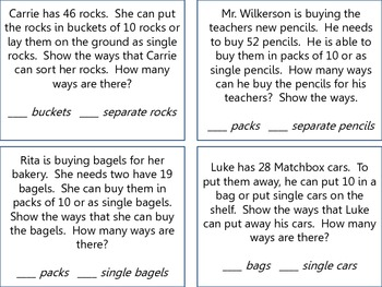 Tens and Ones Word Problems by Loren Dietrich | Teachers Pay Teachers