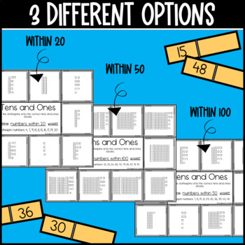 Tens and Ones Worksheets and Center Activity