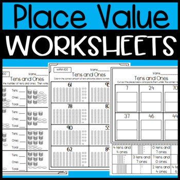 Tens And Ones Worksheets And Sorts Place Value Worksheets Tpt