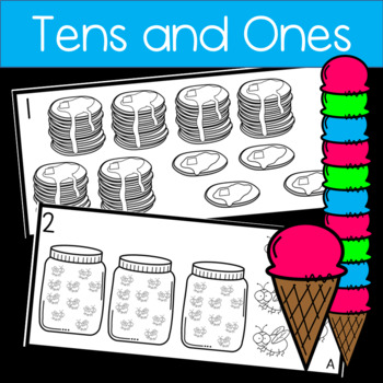 Tens and Ones Worksheets and Write the Room!