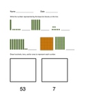 Tens and Ones assessment - First Grade Common Core aligned