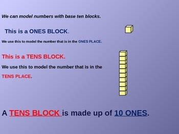 Tens and Ones place value