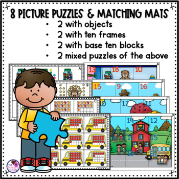 Place Value Tens and Ones to 20 Puzzle Activity