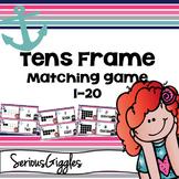 Tens frame Matching game 1-20