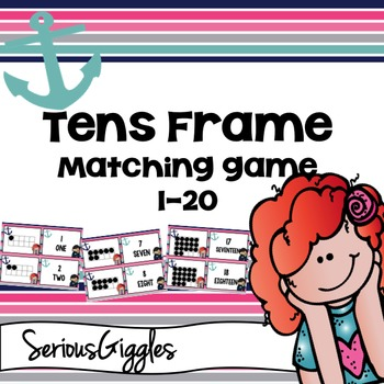 Tens frame Matching game 1-20