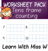 Tens Frame Worksheet Pack 1 - count to 10 or 20