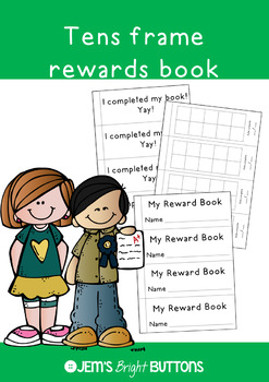 Tens frame reward book