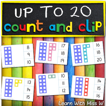 Tens frame to 20 clip cards