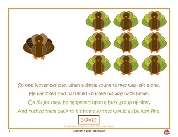 Tens of Terrified Turkeys:  Apple A Day's Book Packet to Teach Tens Facts