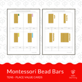 Tens - place value cards with Montessori Bead Bars