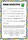 Tense Detective *Worksheets and activities*