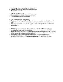 Tense Test / Worksheet