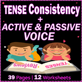 Tenses | Active and Passive Voice | Worksheets | Reviews | ELA