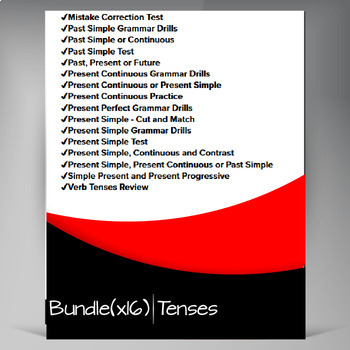 Grammar Worksheets: Tenses Mega Bundle