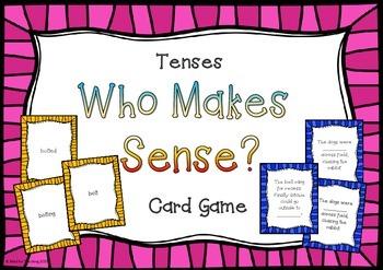 Tenses Who Makes Sense? Card Game