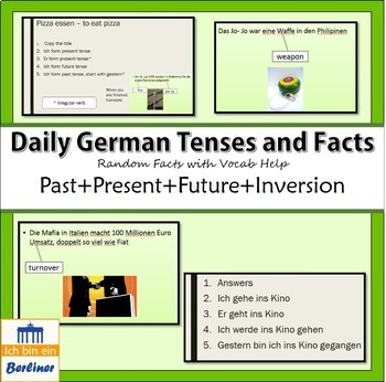 German Factoids with/without Conjugation Practice