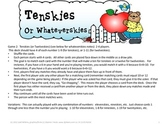 Tenskies/Whateverskies Math Game for missing addends and s