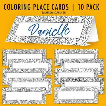 Tent-Fold Place Cards | 10 Pack