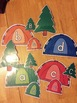 Tent / Tree Camping Letter Decorations