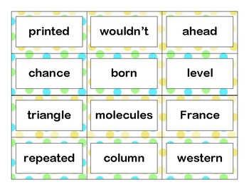 Tenth 100 Fry Sight Words Flash Cards
