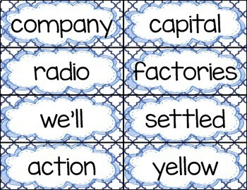 Tenth 100 Fry Word Rings/Word Wall Words/Flash Cards (901-1000)
