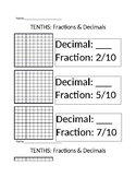 Tenths (Decimal, Fraction, Visual)