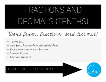 Tenths Fractions and Decimals