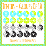 Tenths - Groups of Ten Clip Art Pack for Commercial Use