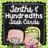 Tenths & Hundredths Task Cards for Centers, Review, Scoot, & Test Prep