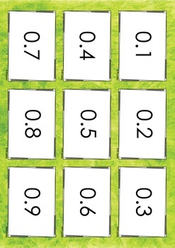 Tenths & Hundredths Game Playing/Flash Cards - Maths Resource