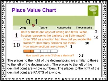 Tenths, Hundredths, and Thousandths (5th Grade EnVision Math Power Point)