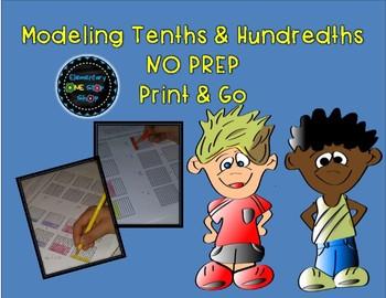 Modeling Tenths and Hundredths Print & Go