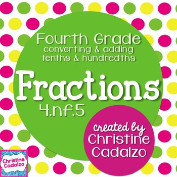 Fractions- Tenths and Hundredths - 4.NF.5