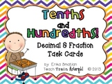Tenths and Hundredths! {Decimal and Fraction Task Cards}