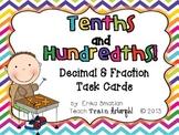 Tenths and Hundredths! {Decimal and Fraction Task Cards}