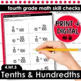 Tenths and Hundredths   Fourth Grade Math 4.NF.5