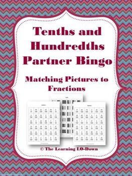 Tenths and Hundredths: Fraction Partner Bingo