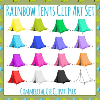 Tents Clip Art Pack for Commercial Use