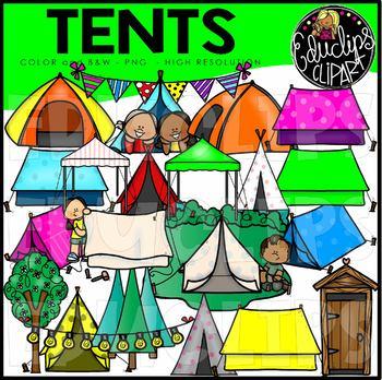 Tents Clip Art Set {Educlips Clipart}