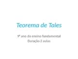 Teorema de Tales - 9 ano Matemática