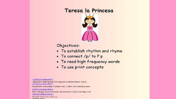 Spanish Rhyme: Teresa La Princesa Smartboard activity