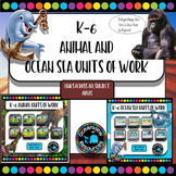 Ocean and animal habitats and environments -UNITS for K-Grade 6 BUNDLE