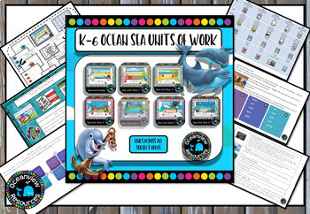 """k-6 Bundle 7 """"Under the Sea"""" themed booklets"""