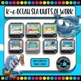 Ocean,sea, environment and habitats- units Kindergarten to year 6 (Bundle)