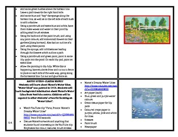 Term 4 Visual Art Program Monet 2014
