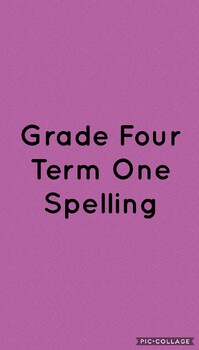 Term One Spelling
