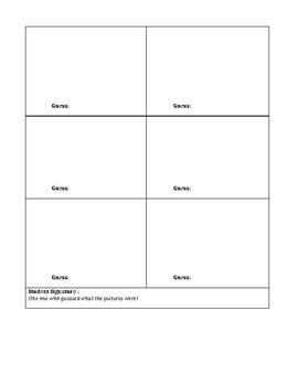 Graphic Organizer: Vocabulary Pictionary