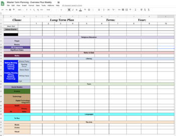 Term and Weekly Planner - NZ Curriculum