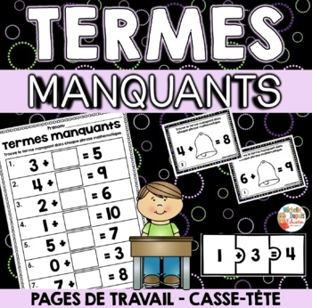 Termes Manquants - French Missing Addends